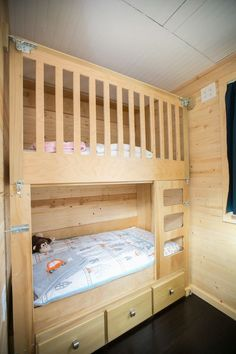 This impeccable tiny house provides shelter for a family of four — two adults, two young kids. It's a house on wheels that allows the family to live debt free and enjoy what they have -- rather than what they don't have.