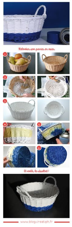 Redonnez du style au panier en osier ! #panier #osier #customisation