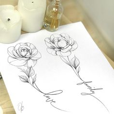 I remind you that the inscriptions and flowers can be interchanged] . Piercing Tattoo, Shape Tattoo, Flower Tattoo Designs, Flower Tattoos, Unique Tattoos, Beautiful Tattoos, Symbolic Tattoos, Tattoo Sketches, Tattoo Ideas