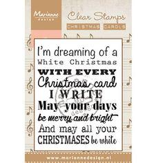 """Clear Stamp van Marianne Design in de serie """"Kerstliedjes""""  Afmeting stempel: 6,7 x 5,5 cm Marianne Design CS0948  Verschillende varianten verkrijgbaar! €2,95"""