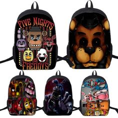 Buy Five Nights At Freddy's Freddy Backpack Chica Foxy Bonnie FNAF Shoulder Bag at Wish - Shopping Made Fun Fnaf Jumpscares, Wings Wallpaper, 6th Birthday Parties, Five Nights At Freddy's, Wish Shopping, Shoulder Bag, Backpacks, Bags, Party