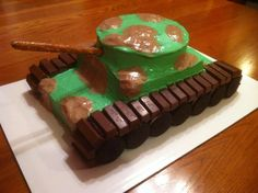 tank (army) cake, for that elusive boy we can't seem to find....