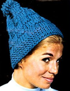 Knit Hat pattern #2151 originally published by Bernat Handicrafter, Book 165.