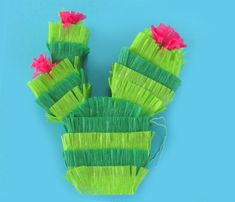 Cactus Mini Pinata Party Favors for Fiesta by CactusPearStudio