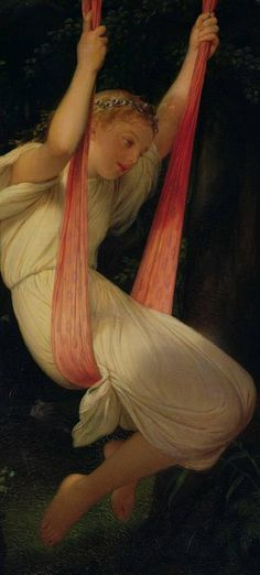 Young Girl On A Swing, Paul Delaroche.