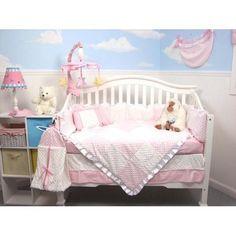 Soho Designs 13 Piece Minky Dot Chenille Baby Crib Nursery Bedding Set