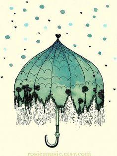@Rosie HW HW Music // ilustra mais linda de guarda-chuva. em homenagem a hoje! ;)