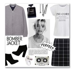 """Bomber Jacket"" by sebi86 ❤ liked on Polyvore featuring Giuseppe Zanotti, Ally Fashion, Miss Selfridge, MANGO, Chanel, BOBBY, Nach Bijoux, women's clothing, women and female"