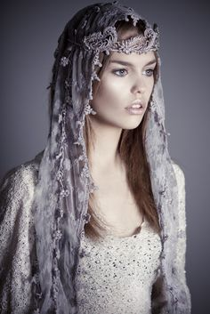<3  What inspiration!  I would love to see this idea on a lovely bride, using vintage lace, perhaps.