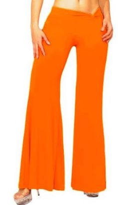 Slinky Palazzo Pants with Chic Twist Waistband from Glam Attack Pants - EXODUS Orange Glam Attack. $32.99
