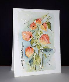 40-547 Flower lanterns et 30-423 banner sentiments de Penny Black par Micheline 'Mimi' Jourdain