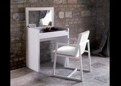 Dressing Table With A Fold Down Lid/mirror. Wouldnu0027t Block Any Sunlight