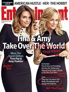 Our fave funny ladies Tina Fey and Amy Poehler take over Entertainment Weekly!