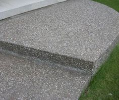 exposed aggregate - Google Search Exposed Aggregate Driveway, Front Yard Landscaping, Landscaping Ideas, Stepping Stones, Shed, Decorative Concrete, Backyard, Driveways, Landscape