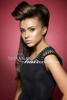 Avant Garde Hair. Hairstyle by #tatianahairextensions using hair extensions and hair pieces, clip in braid and ponytail hair pieces. Hair by www.tatianahairextensions.co.uk Photography Stewart WIlliams, Makeup Jimmie Pritchard