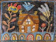 Simple House | Pattern for rug hooking or punchneedle embroidery
