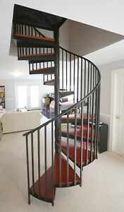 Spiral Staircase Metal And Wood 13 Feet By 5 Feet Local
