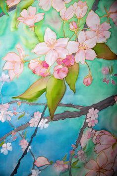 Wedding Chuppah Sakura tree branches in bloom Extra large silk