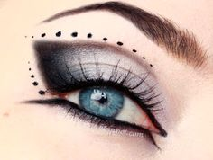 Gothic eye make up -  clic for tutorial...for witch halloween costume-- gorgeous!