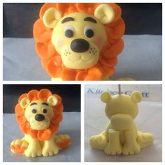 Fondant Lion Cake Topper!