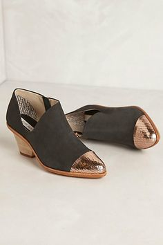 Swagger Booties by Matt Bernson @Mary McKinstry; these are freaking gorgeous - I love the cutaway and the rose-gold toe
