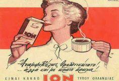 Αγαπημένες Δεκαετίες: Διαφημιστικές αφίσες παλιών δεκαετιών Vintage Advertising Posters, Old Advertisements, Vintage Travel Posters, Vintage Ads, Vintage Images, Vintage Decor, Vintage Lettering, Lettering Design, Greek Lettering