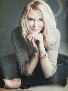 Nicole Kidman for Omega Ladymatic, Fall 2015 Love her hair
