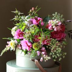 pink flower arrangements - Google Search