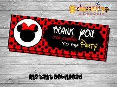 Printable Minnie bag toppers- DIY birthday bags - Minnie Birthday Labels - Happy -birthday - Printable Minnie Decoration-Bag toppers by Chumelito on Etsy
