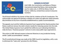 Women in Rotary