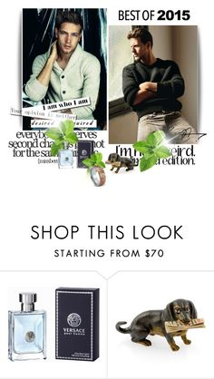 """""""look male"""" by smile-2528 ❤ liked on Polyvore featuring Versace"""