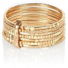 River Island Gold tone stacked finger top ring (3.21 CAD) ❤ liked on Polyvore featuring jewelry, rings, bracelets, sale, gold tone jewelry, goldtone jewelry, gold colored jewelry, stackable rings and river island