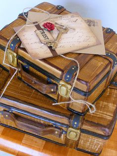 Suitcases cake version 1 by bubolinkata, via Flickr