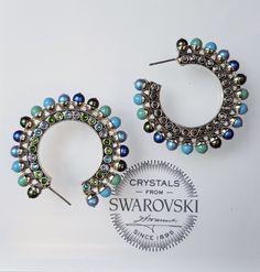 Chic earrings by TRIA ALFA created with Swarovski crystals & pearls  | Swarovski jewelry | Chic jewelry