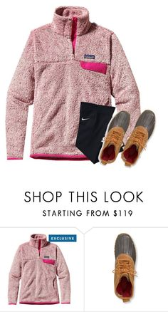 """""""Bad set but thanks for 500👌🏼😂"""" by sarab873 ❤ liked on Polyvore featuring Patagonia, L.L.Bean and NIKE"""