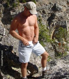 beach daddy removing shorts undressing lake