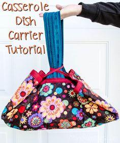 Diana Rambles: Casserole Dish Carrier Tutorial