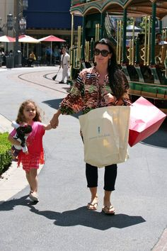 Kyle Richards & Her Cutie At The Grove | Celebrity Baby Scoop