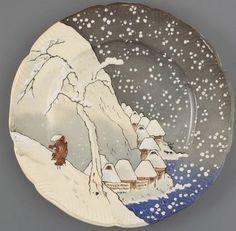 Henri Lambert (1836-1909) Assiette plate (service Lambert-Rousseau) Musée d'Orsay.