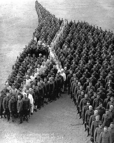 I have posted it before but a Veterans Day favorite. Thank you to all those who have served for our freedom...In Camp Cody New Mexico in 1917 650 officers and enlisted men of the Auxiliary Remount Depot No 326 a Cavalry unit created this human horse head in tribute to the horses lost in WWI. #veteransday