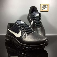 Nike Air Max 2017 Black Leather Shoes