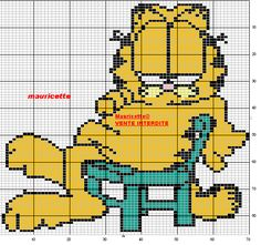 Garfield perler bead pattern by Mauricette