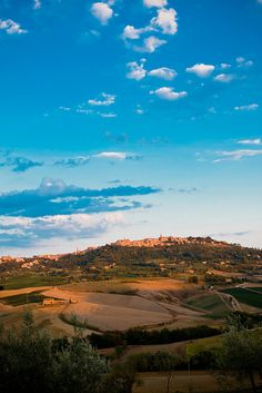 Montepulciano, Tuscany, Italy, where my favorite wine comes from. It is Montepulciano D'Abruzzo!