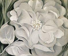 The White Calico Flower  -  Georgia O'Keeffe c.1931   American