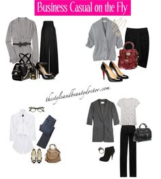 Sophisticated outfits for business travel from the style and beauty doctor