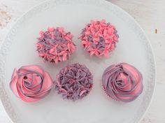 Ombre Hortensien Cupcakes und Rosen