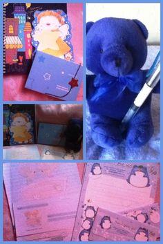 Day 4: Favorite Color #blue #stationery #memoPad #bear