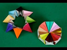 Ruota corona 8 pezzi origami Origami Magic Circle - YouTube