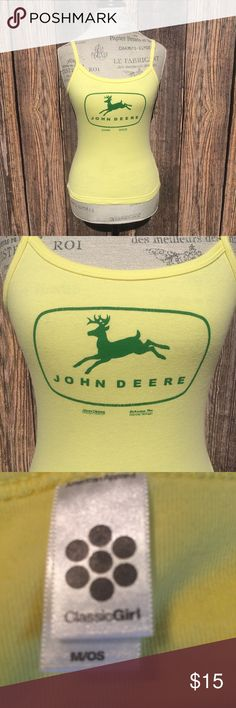 """John Deere tank top John Deere tank top. Says medium but definitely fits small in my opinion.   🍥Bundle deals available (I carry various sizes and brands in my closet): 2 items 10% off, 3 items 15% off, 4 items or more 20% off.  🍥No trades, modeling, or lowball offers please. 🍥All reasonable offers accepted only through """"offer"""" button. Please submit offer willing to pay as I prefer to not counteroffer. 🍥I appreciate you all. Happy Poshing! John Deere Tops Tank Tops"""