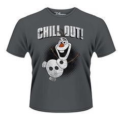 Frozen Olaf Chill Out Grey T-shirt Official Licensed. This item is perfect for any Frozen fans wanting to own official merchandise from this Movie. Official Lic